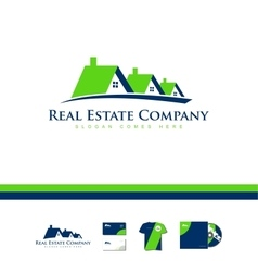 Real estate house company logo icon home vector image vector image