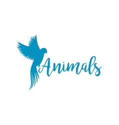 animals logo template with flying bird vector image