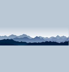 beautiful panoramic view vector image