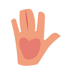 caucasian human hand showing giving high five vector image vector image