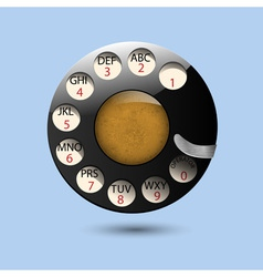 Disc dials of old retro phone vector image