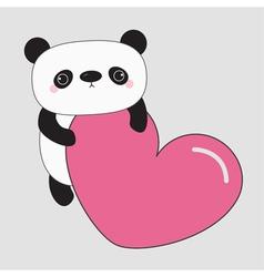Kawaii panda baby bear cute cartoon character vector