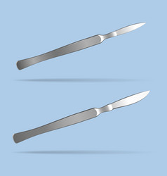 scalpel surgical operating tool health and vector image