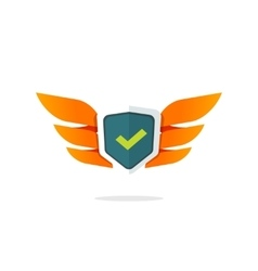 Wings shield symbol concept of protection vector image