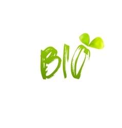 Bio logo design with leaf vector image vector image
