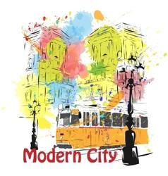 European capital sketch Budapest vector image
