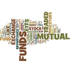 exchange traded funds text background word cloud vector image