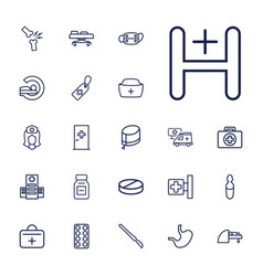 22 hospital icons vector