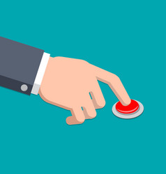 a hand in suit press button vector image