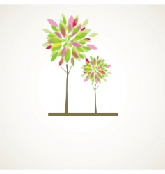 Abstract tree flowers vector illustration vector