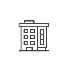 Apartment house line icon vector
