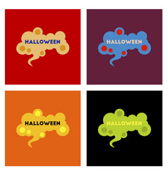 Assembly flat icons halloween sign vector