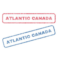 Atlantic canada textile stamps vector