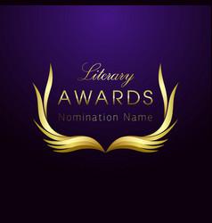 Awards book wreath vector