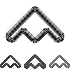 Black line abstract logo design set vector