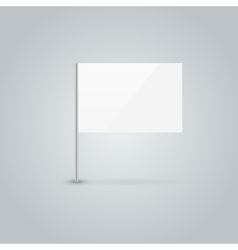Blank flag vector image