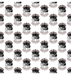 Bowling pattern seamless vector image