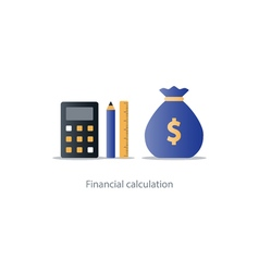 Budget money count financial calculator pencil vector