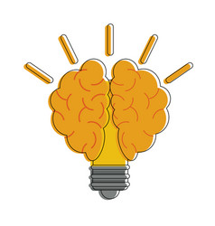 bulb with brain vector image