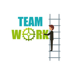 Business teamwork design vector