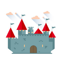 cartoon fairy tale castle tower vector image