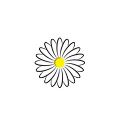 Chamomile logo flower plant herb icon design vector