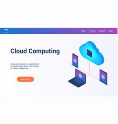 cloud computing 3d lp template2 vector image