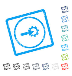Cog integration icon rubber watermark vector