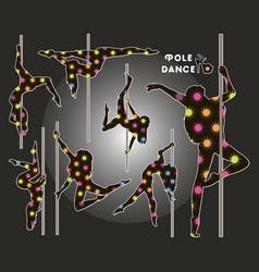 dancing on pylon vector image