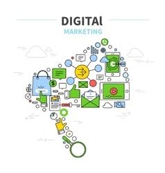 Digital Marketing Poster vector