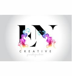 En vibrant creative leter logo design vector