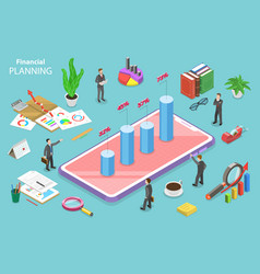 financial planning isometric flat vector image