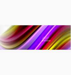 fluid liquid colors abstract background colorful vector image