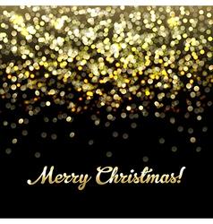 Golden Defocused Merry Christmas Background vector