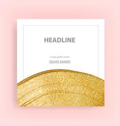 Golden stroke banner luxury frame art template vector