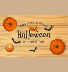 halloween sale composition 01 vector image