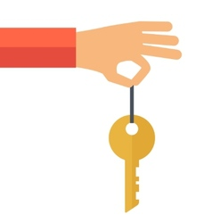 Hand with a key vector image