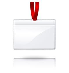 Hanging blank realistic horizontal badge vector