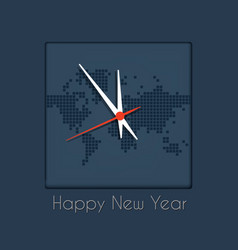 happy new year clock counts down last vector image