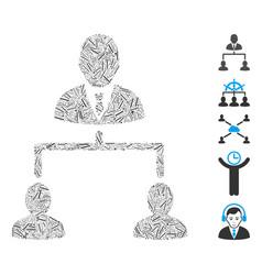 Hatch collage human hierarchy icon vector