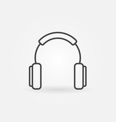 headphones outline simple concept icon vector image