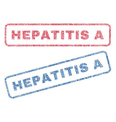 Hepatitis a textile stamps vector