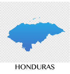 Honduras map in north america continent design vector