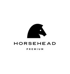 horse head logo icon vector image