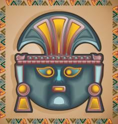 Inca mask vector image