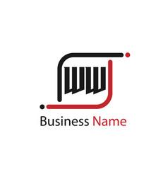 Initial letter ww logo template design vector