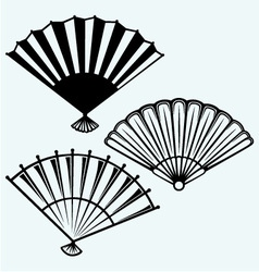 Japanese folding fan vector image