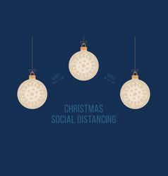 Keep social distance merry christmas banner vector