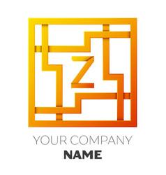 Letter z symbol in the colorful square maze vector