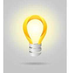 Light lamp bulb concept vector image